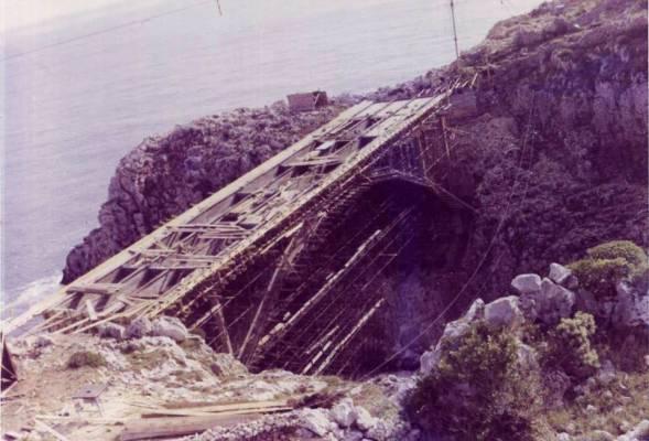 Ponte del Ciolo in costruzione negli anni 60
