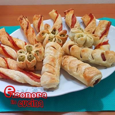 ANTIPASTINI DI PASTA SFOGLIA ricetta gustosissima di Eleonora in Cucina - Eventi Salento