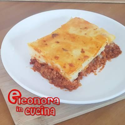 PASTICCIO DI RAGU' E PURE' ricetta golosissima di Eleonora in Cucine - Eventi Salento