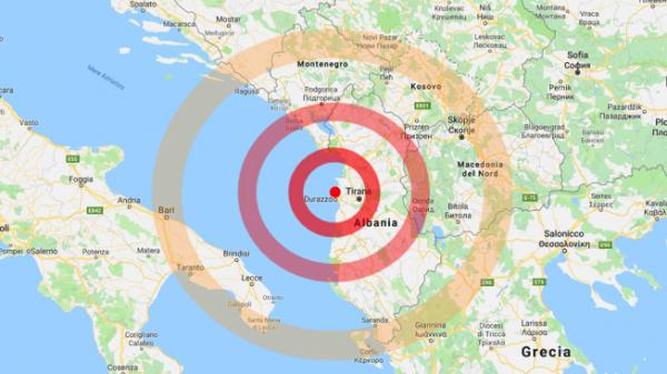 Terremoto in Salento nel cuore della notte , magnitudo 6,5 con epicentro in Albania