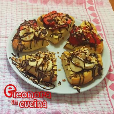 WAFFLE ALLA FRUTTA ricetta originale fatta in casa di Eleonora in Cucina - Eventi Salento