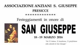 Ass. Anziani S. Giuseppe (Presicce) festeggiamenti in onore di San Giuseppe il 18 e 19 Marzo