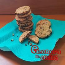 COOKIES BISCOTTI AMERICANI ricetta con gocce di cioccolato di Eleonora in Cucina - Eventi Salento