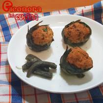 CARCIOFI RIPIENI ricetta senza carne di Eleonora in Cucina - Eventi Salento