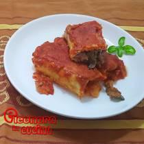 CRESPELLE AL FORNO ripiene di carne prosciutto e funghi CREPES SALATE ricetta di Eleonora in Cucina - Eventi Salento
