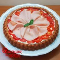 CROSTATA SALATA la ricetta con formaggio tacchino pomodori di Eleonora in Cucina - Eventi Salento