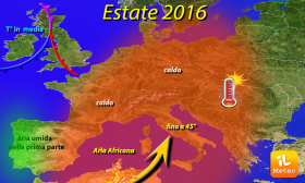 ESTATE 2016 A 45°- Sarà un estate da caldo record