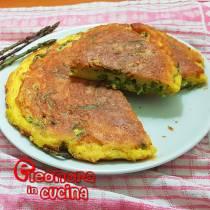 FRITTATA DI ASPARAGI SELVATICI ricetta vegetariana semplice e veloce di Eleonora in Cucina - Eventi Salento