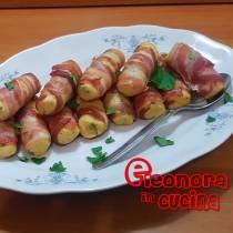 PANZEROTTI IN CROSTA DI BACON involtini di patate e bacon ricetta di Eleonora in Cucina - Eventi Salento