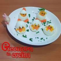 PULCINI DI UOVA SODE ricetta sfiziosa antipasti di pasqua di Eleonora in Cucina - Eventi salento